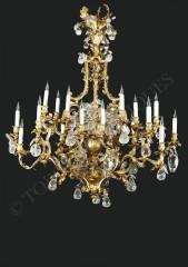 L.Messagé  Rare lustre en cristal de roche