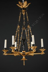 "F. Barbedienne""Crotales Player"" chandelier"