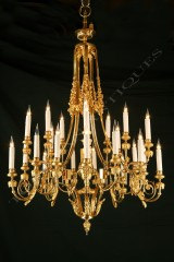F. BarbedienneNeoclassical chandelier