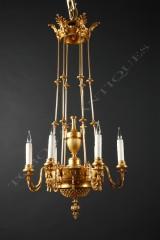 F. BarbedienneNeoclassical chandelier