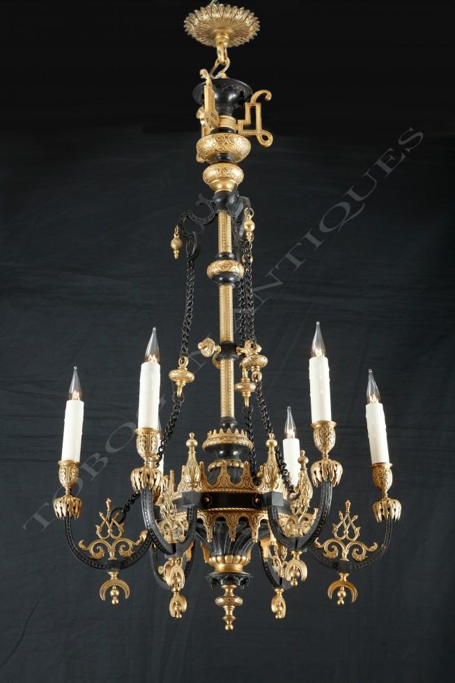 F. Barbedienne<br />Lustre de style Ottoman