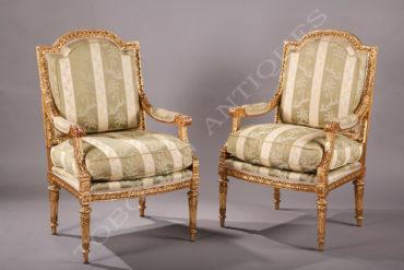 Fauteuils de style Louis XVI - Tobogan Antiques - Antiquaire Paris