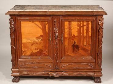 Meuble d'appui Metgé Tobogan Antiques Paris antiquités XIXe siècle