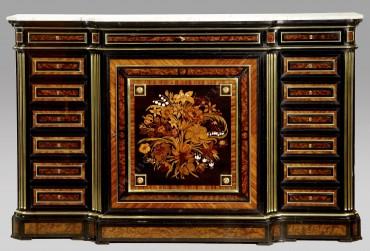Cabinet de collectionneur marqueterie Grohé Tobogan Antiques Paris antiquités XIXe siècle