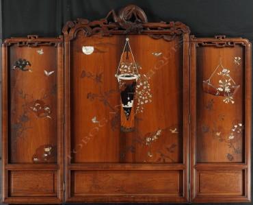 Paravent Japonisant Viardot Tobogan Antiques Paris antiquités XIXe siècle