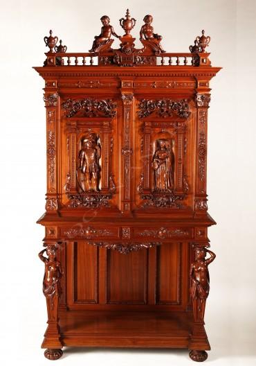 h-a-fourdinois-cabinet-sculpte-de-style-renaissance