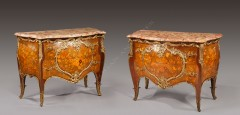 L. Messagé & J.E. Zwiener  Paire de commodes