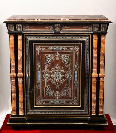 Cabinet en marqueterie Susse Frères Tobogan Antiques Paris antiquités XIXe siècle