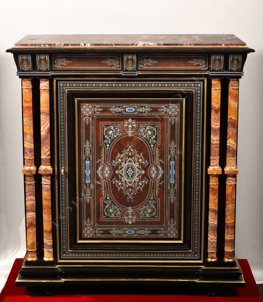 Susse Frères<br />Marquetry cabinet