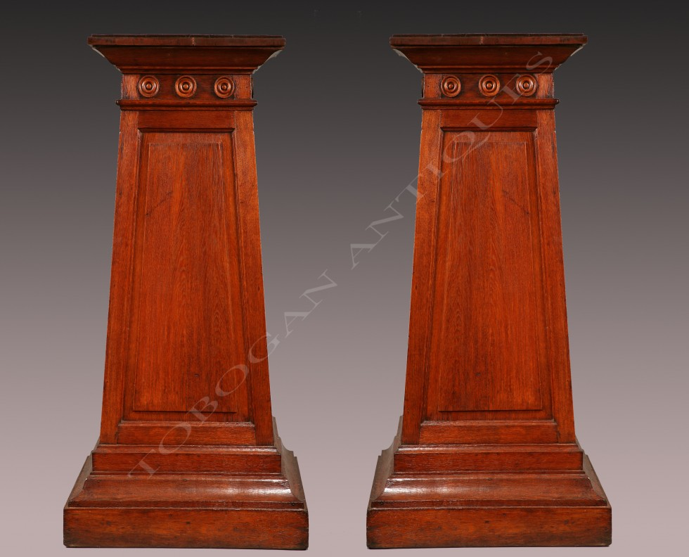 A Large Pair of Greek Revival Stands