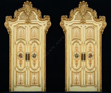 Ensemble de quatre double-portes palatiales Tobogan Antiques Paris antiquités XIXe siècle