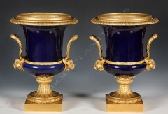 """Sèvres""Pair of porcelain vases"