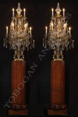 BaccaratPair of Crystal candelabras