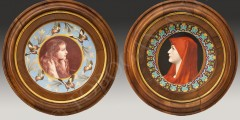 "V. Desgeorges  ""Tondo""  Rare Pair of Display Dishes"