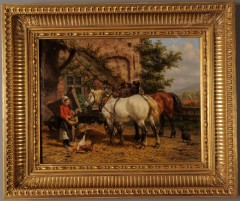 """W.J. van den Berghe""""Farm courtyard"""""""
