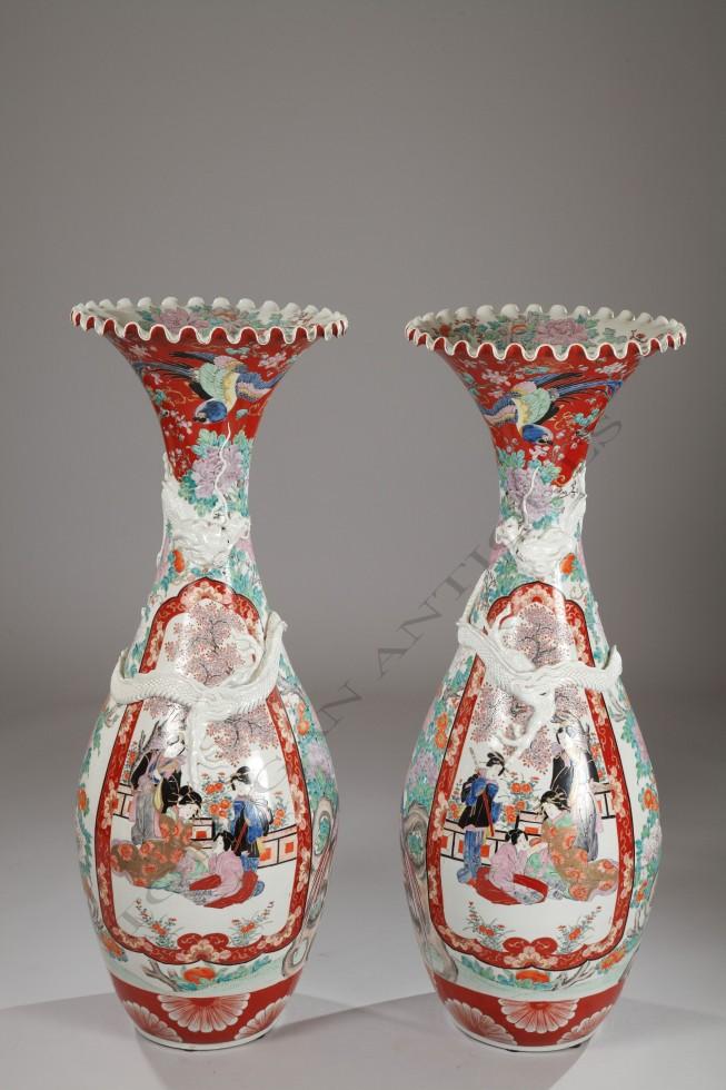 Imari <br />Pair of large vases