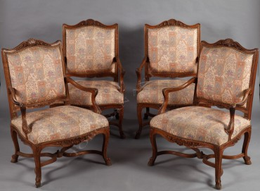 Salon de style Régence mobilier Tobogan Antiques Paris antiquités XIXe siècle