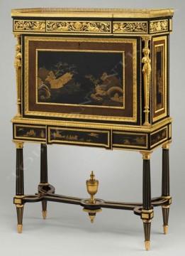 Secrétaire de style Louis XVI Beurdeley Tobogan Antiques Paris antiquités XIXe siècle