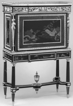 Secrétaire de style Louis XVI Winckelsen Tobogan Antiques Paris antiquités XIXe siècle