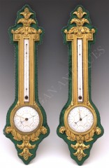 H. Dasson  Pair of Barometer and Thermometer