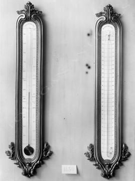 Thermomètre et calendrier perpétuel Linke bois horlogerie Tobogan Antiques Paris antiquités XIXe siècle