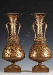 F. Levillain & F. Barbedienne Paire de vases amphores néo-Grecs