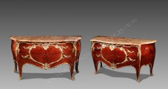 Zwiener Jansen SuccesseurPair of Louis XV style commodes